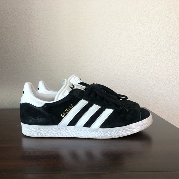super popular pretty nice uk cheap sale Adidas Gazelle Black Suede sz8.5